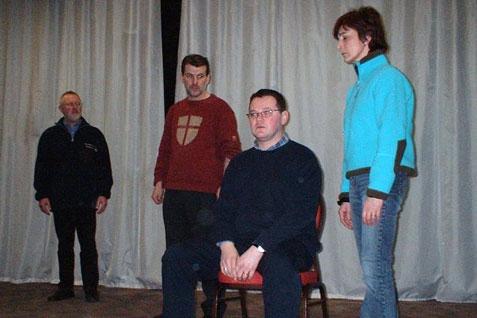Eric, Karel, Geert en Christine in volle concentratie