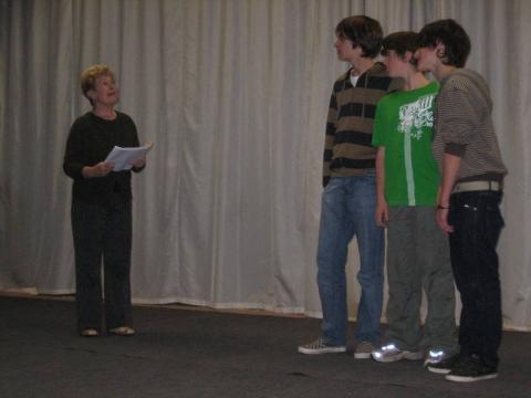 Lisette, Sam, Wouter en Arne